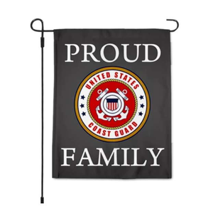 Coast Guard Proud Family Garden Flag 12.5 X 18 Inches - BackYourHero