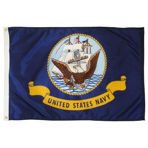 U.S Navy Flag With Grommets 3 X 5 Feet! - BackYourHero