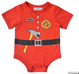 Cute Firefighter Baby Onesie - BackYourHero