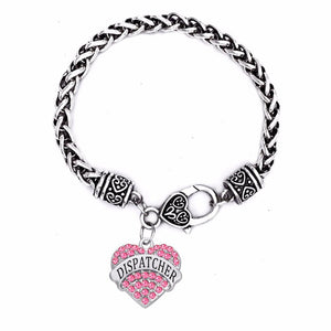 Stylish Charm Dispatcher Engraved Bracelet - Available in 3 Colors! - BackYourHero