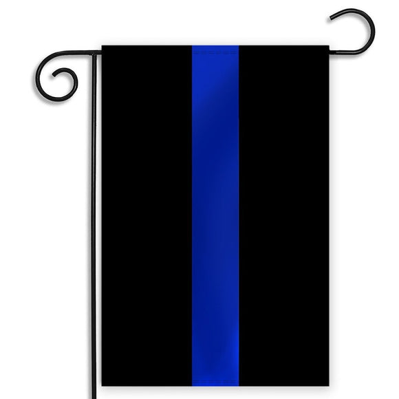 Thin Blue Line Garden Flag 12.5 X 18 Inches - BackYourHero