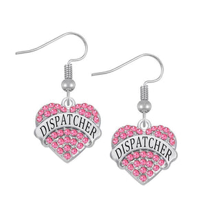 Elegant Dispatcher Engraved Earrings - Available in 3 Colors! - BackYourHero