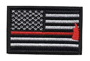 Thin Red Line Axe Velcro Patch - BackYourHero