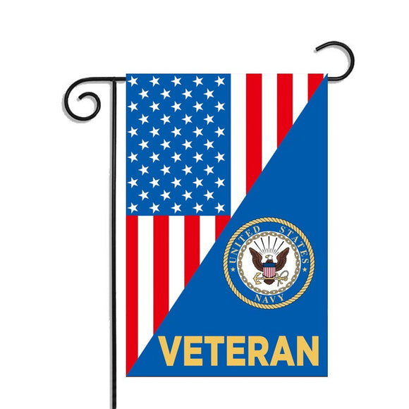 US Navy Veteran Garden Flag 12.5 X 18 Inches - BackYourHero