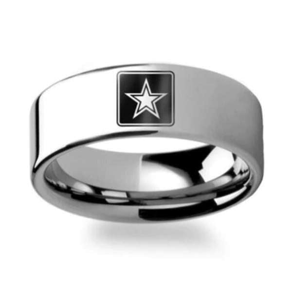 Elegant U.S Army Ring - Pure Titanium! - BackYourHero