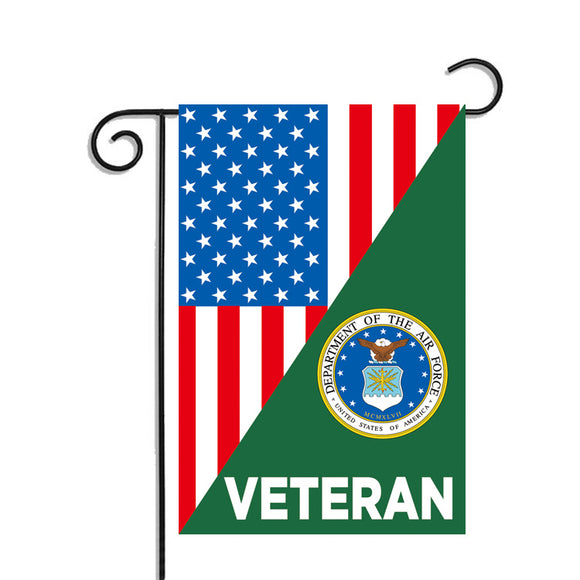 US Air Force Veteran Garden Flag 12.5 X 18 Inches - BackYourHero