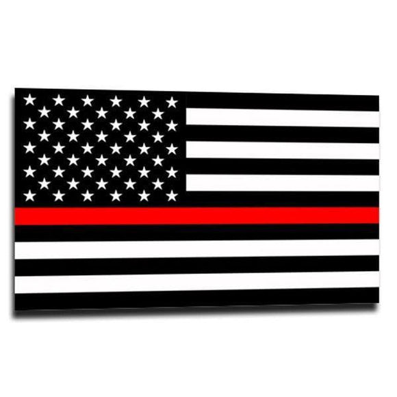 Thin Red Line Sticker 2.5
