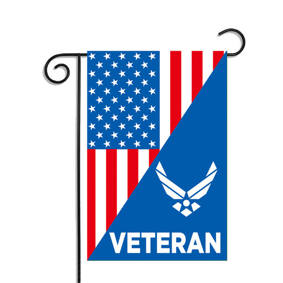 USAF Veteran Air Force Garden Flag 12.5 X 18 Inches - BackYourHero