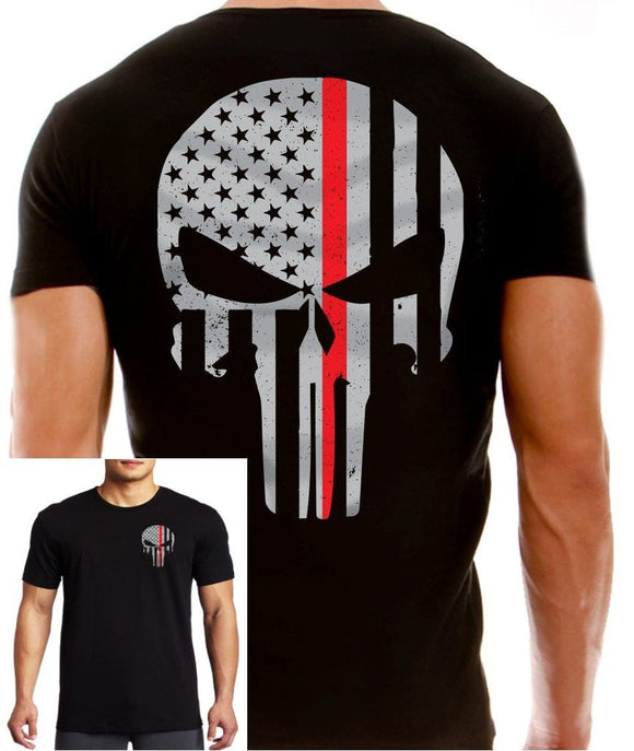 Thin Red Line Men's Punisher T Shirt - BackYourHero