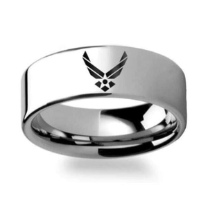 Elegant U.S Air Force Ring - Pure Titanium! - BackYourHero