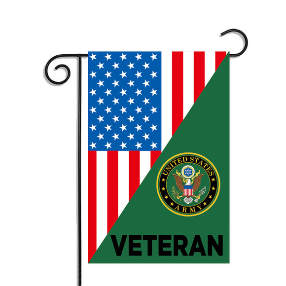 U.S Army Veteran Garden Flag 12.5 X 18 Inches - BackYourHero