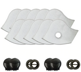 10 Pack Filter Replacement for Face Masks - Includes 4 Valves - BackYourHero