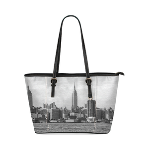 NYC Skyscraper Leather Tote Bag
