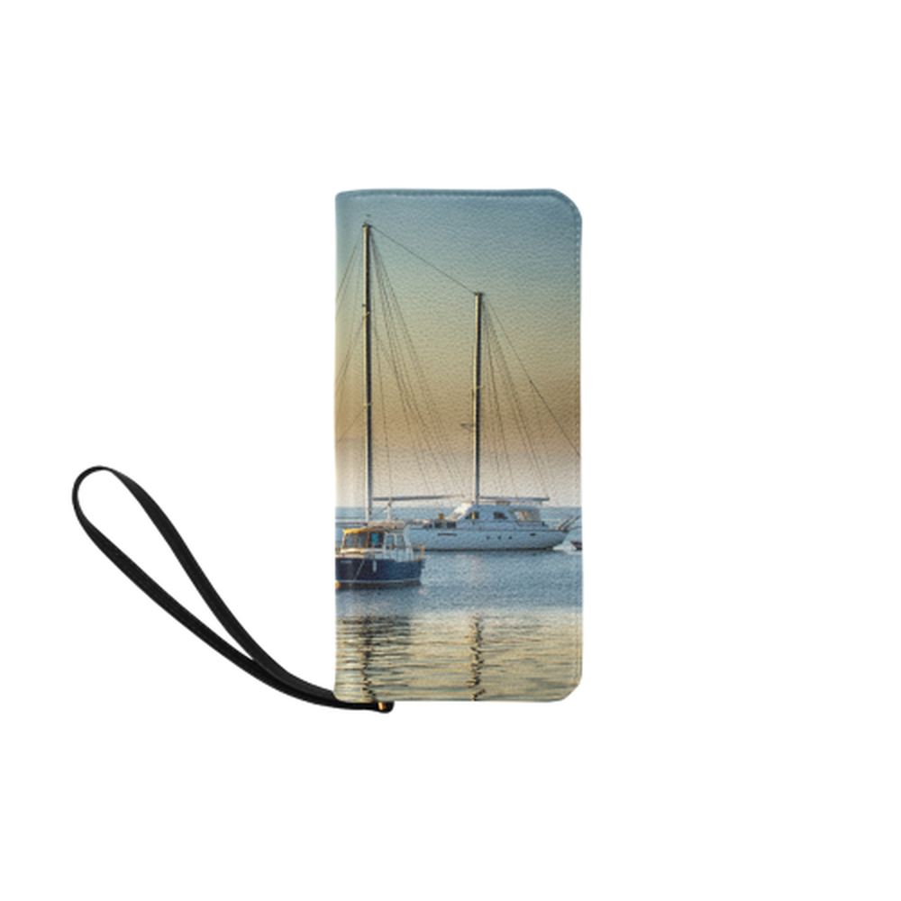Calm Boats Clutch Purse