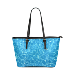 Pool Leather Tote Bag