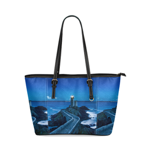 Lighthouse Leather Tote Bag