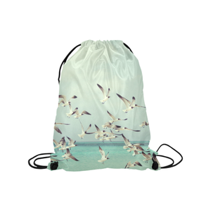 Seagulls Drawstring Bag