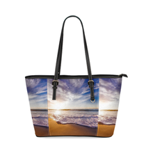 Beach Front Leather Tote Bag