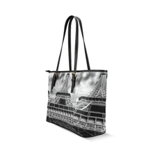 Eiffel Tower Leather Tote Bag