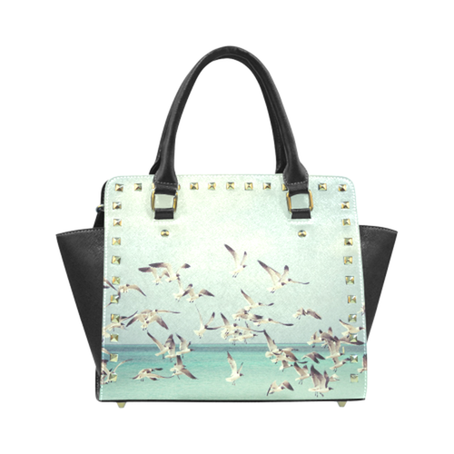 Seagulls Rivet Shoulder Purse