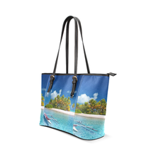 Polynesian Leather Tote Bag