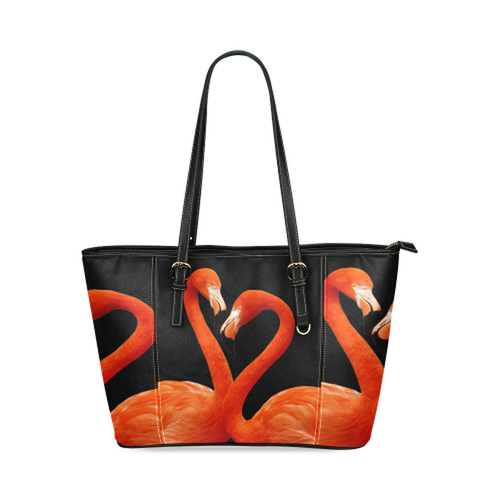 Flamingo Leather Tote Bag