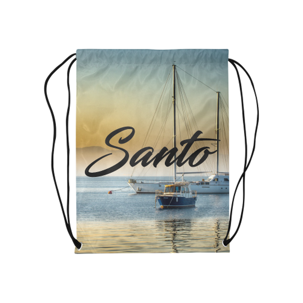 Calm Boats Drawstring Bag