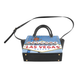 Las Vegas Sign Rivet Shoulder Purse