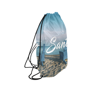 Blue Chair Drawstring Bag