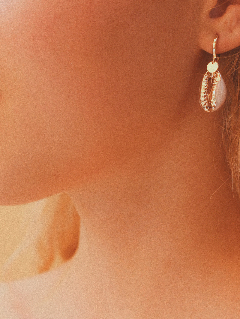 Boucles d'oreilles coquillage Faye