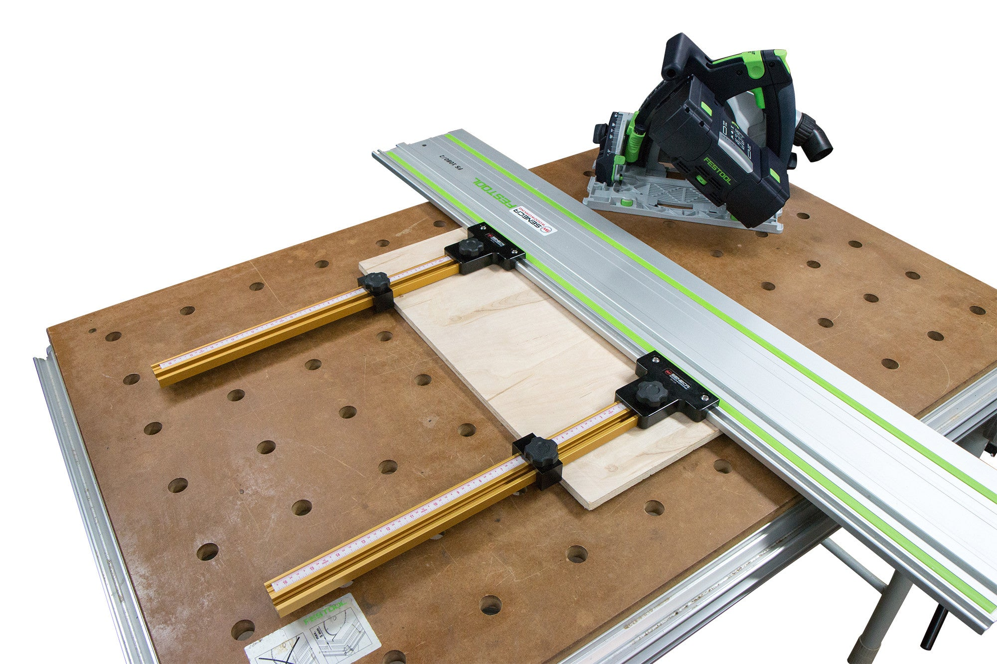 Parallel Guide System for Festool and Makita Track Saw Guide Rail