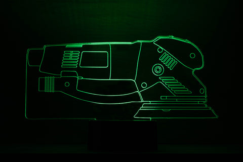 "Image of Color Changing ""Festool Sander"" Style Acrylic Sign"