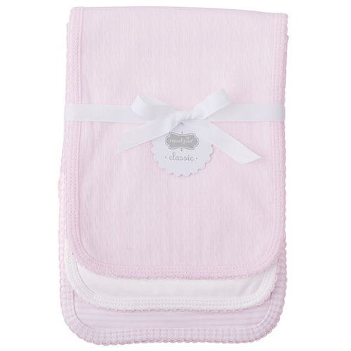 3 pc set, Pink Pointelle Burp Cloths