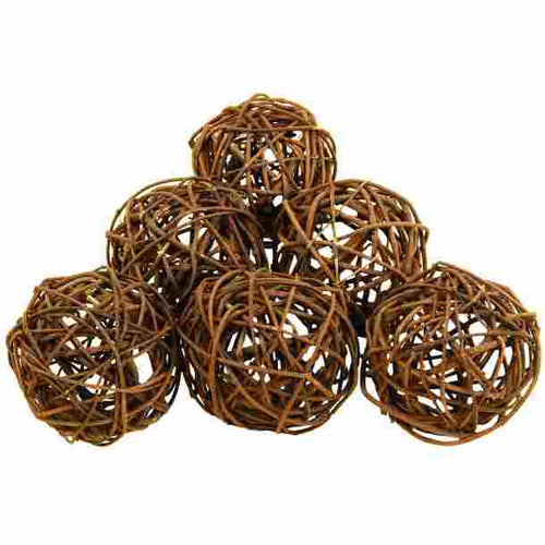 Set of 6 Natural Decor Ball 4