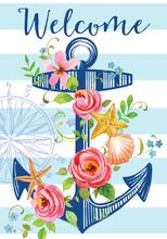 Floral Anchor Garden Flag 12