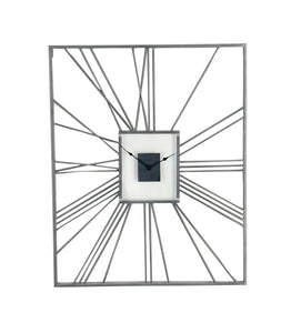 "Metal Wall Clock 24"" x 30"""