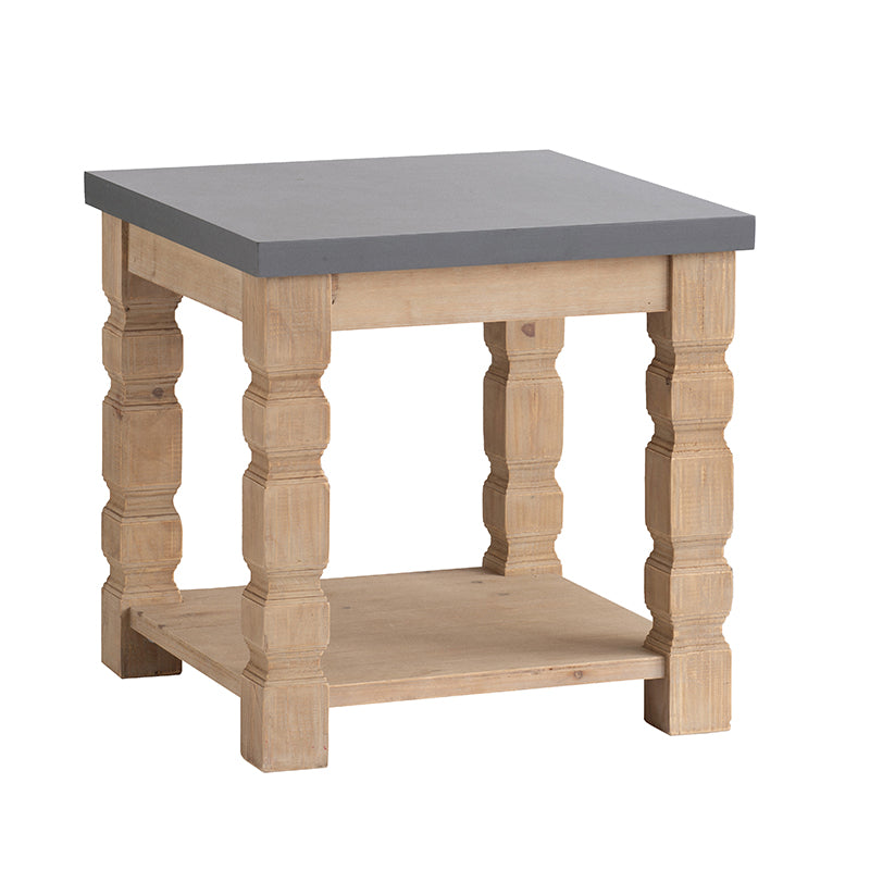 Side Table w/ Gray Concrete Table Top