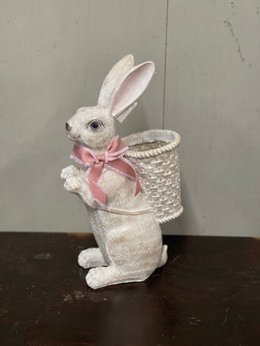 Bunny with Basket Planter