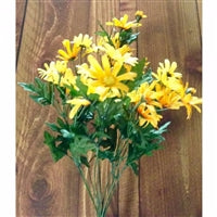 "19.25"" Wild Daisy Bush in Yellow/Gold"