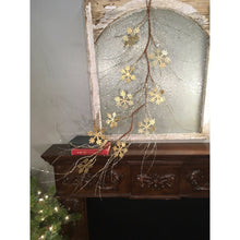"Load image into Gallery viewer, 55"" Metallic Glitz Snowflake / Twig Garland in Gold/Champagne"