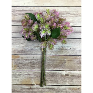 "13"" Irish Thistle Bundle in Pink/Green"
