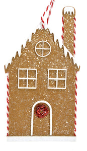 "3.25"" x 5.25"" Frosted Felt Gingerbread House"