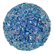 "Load image into Gallery viewer, 5"" Glitter and Ice Ball in Blue"