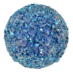 "5"" Glitter and Ice Ball in Blue"