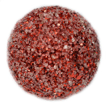 "Load image into Gallery viewer, 5"" Glitter and Ice Ball in Red"