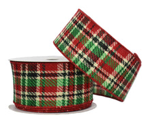 "Load image into Gallery viewer, Multi Colors Plaid Ribbon (2.5"" x 10yd)"