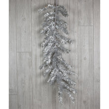 "Load image into Gallery viewer, 46"" Tinsel Garland in Apple Green, Red, or Silver"