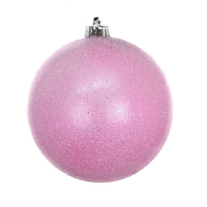 "6"" Sugar Frosted VP Ball Ornament in Light Pink"