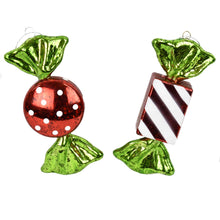 Load image into Gallery viewer, Round and Square Candy Box of 6 in Red/White/Green