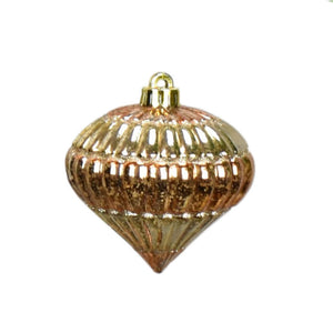 "4.5"" Rose Gold Faux Glass Finial Ornament"